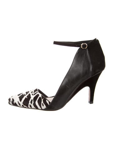Derek Lam 10 Crosby Ponyhair Printed Pumps None