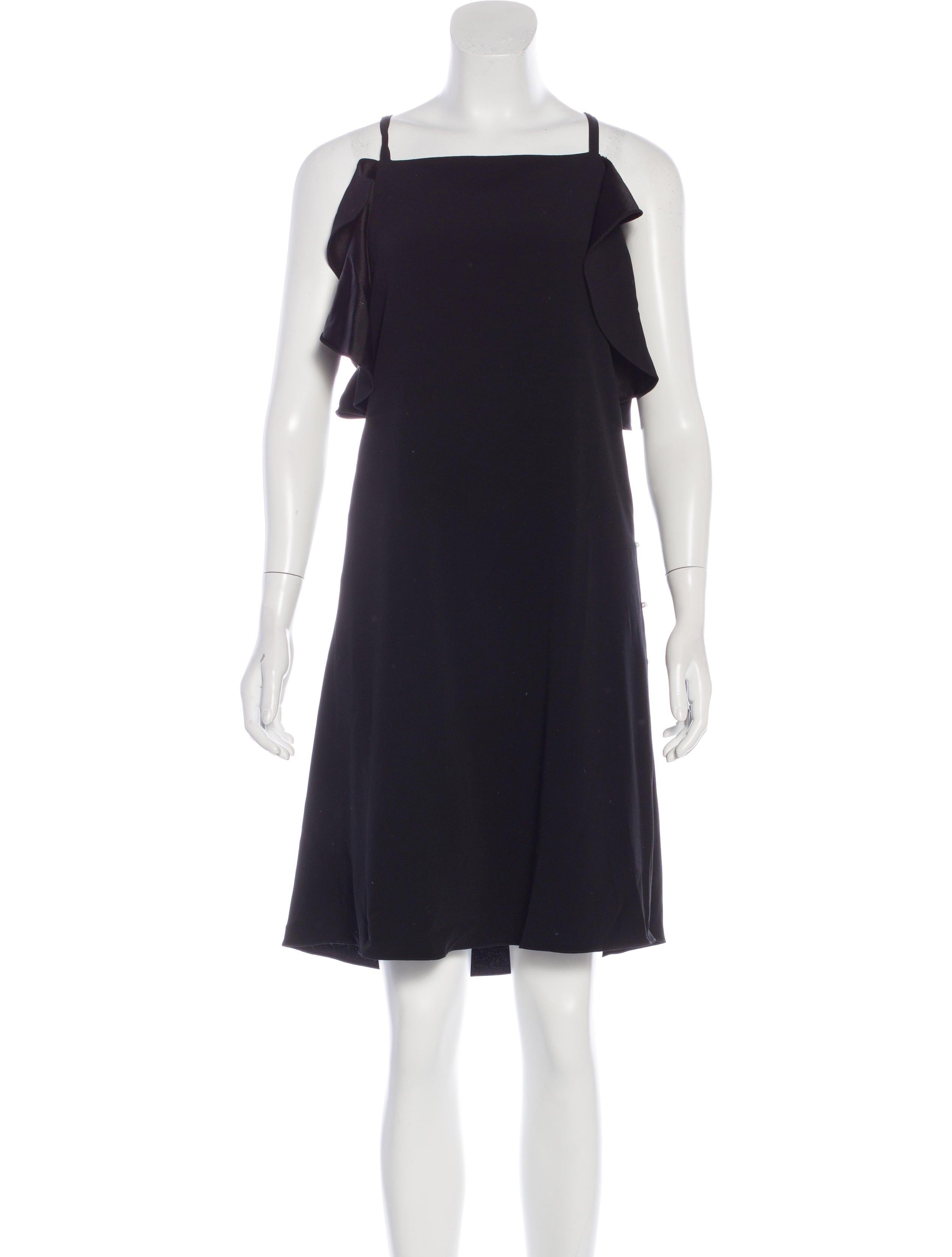 Derek Lam 10 Crosby Pearl Accented Sleeveless Dress