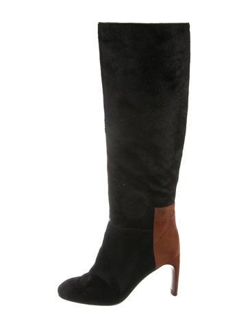 Derek Lam 10 Crosby Knee-High Ponyhair Boots None