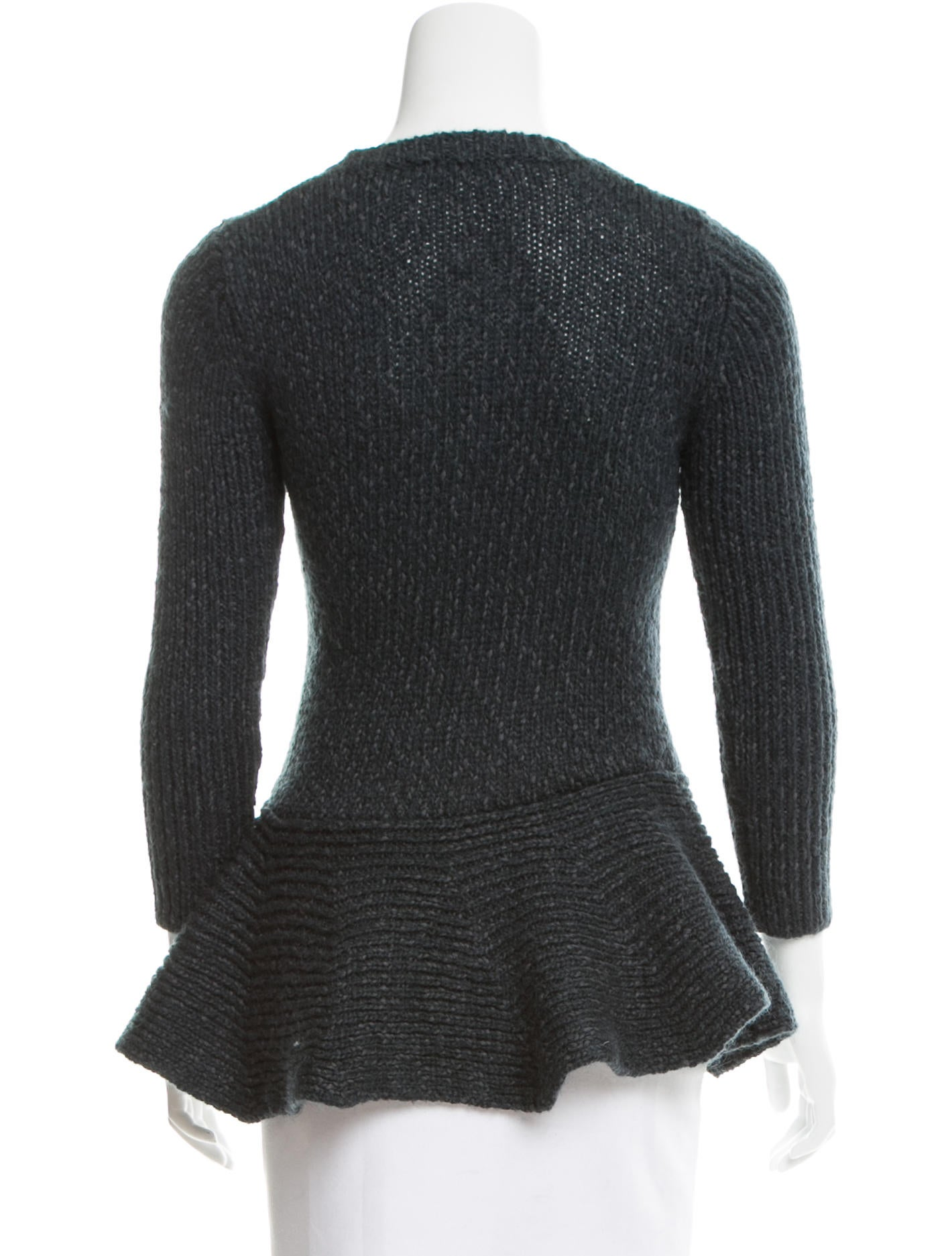Derek Lam 10 Crosby Knit Peplum Sweater - Clothing - WDL25265 The RealReal