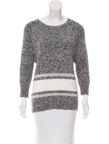 Derek Lam 10 Crosby Patterned Long Sleeve Sweater None
