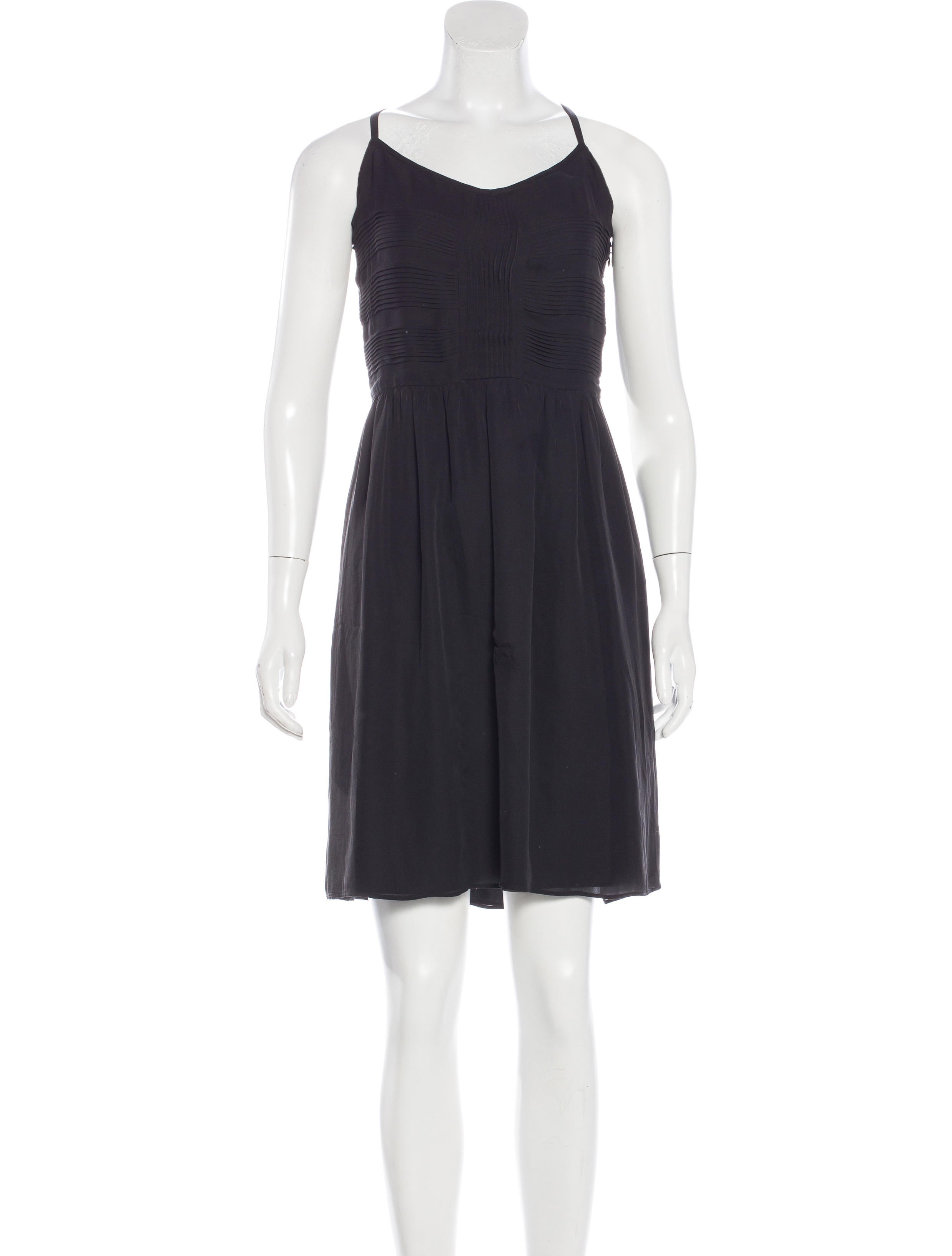 Derek lam 10 crosby silk pleated dress clothing for Derek lam 10 crosby shirt dress