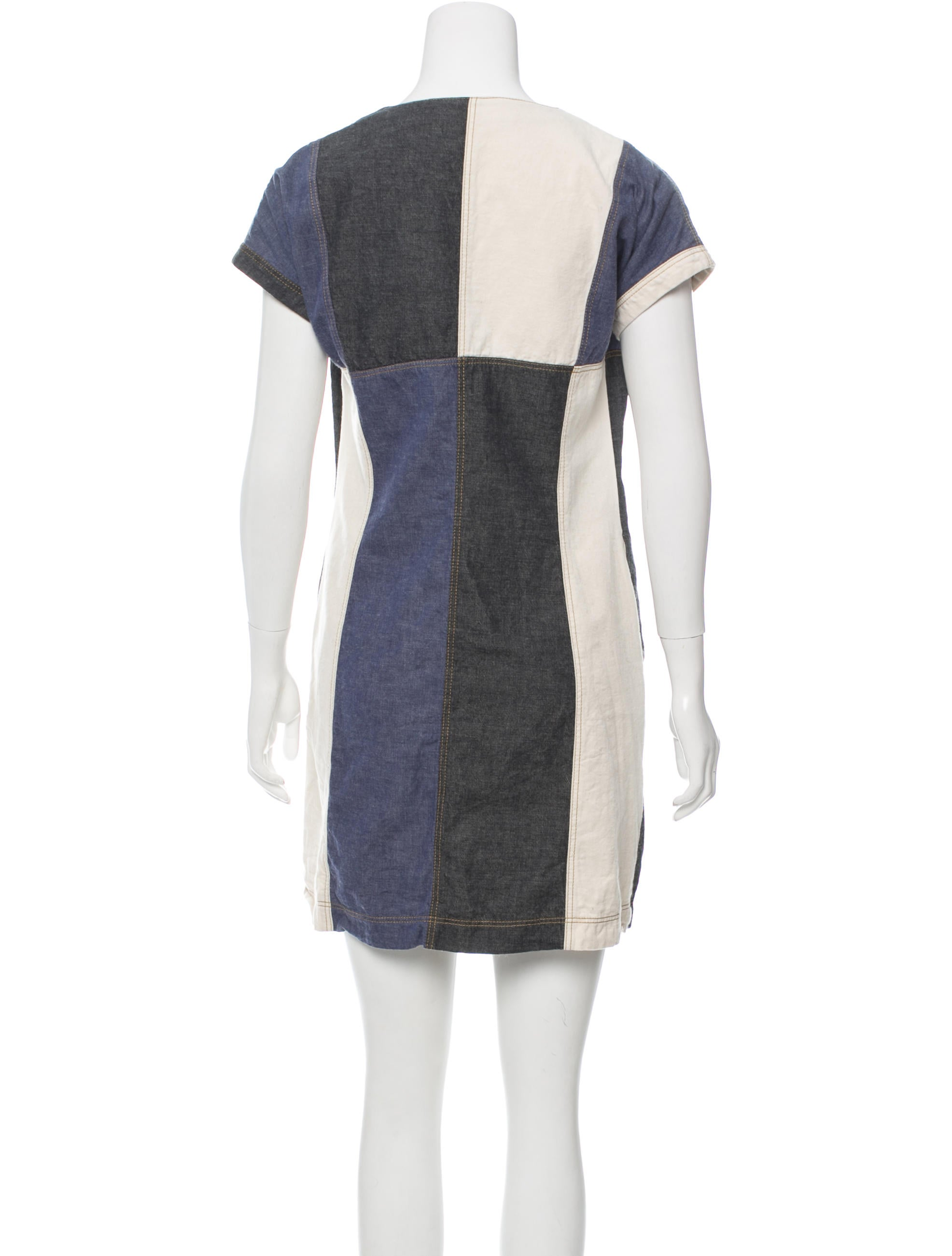 Derek lam 10 crosby colorblock denim dress clothing for Derek lam 10 crosby shirt dress
