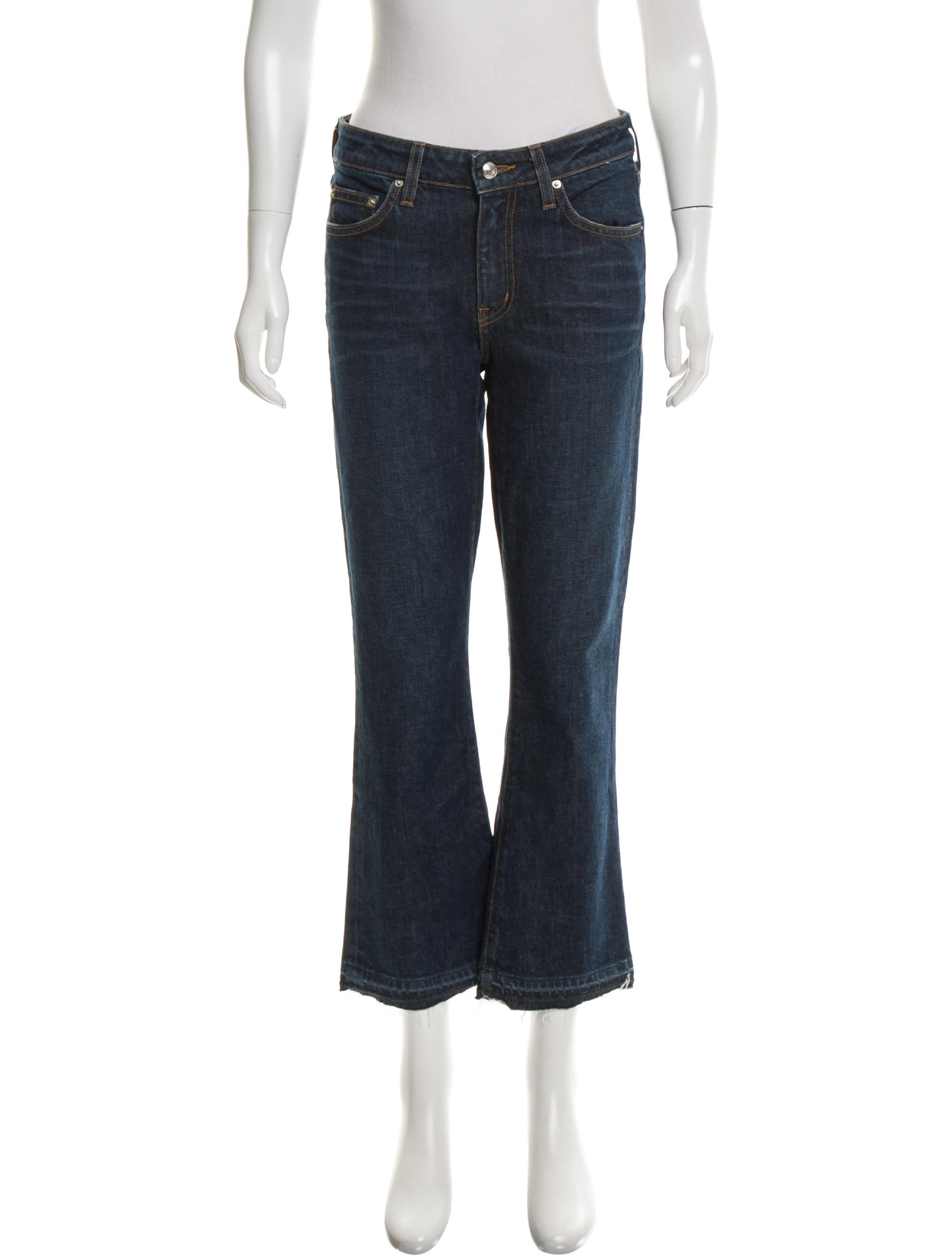 derek lam 10 crosby gia cropped flare jeans w tags clothing wdl25927 the realreal. Black Bedroom Furniture Sets. Home Design Ideas