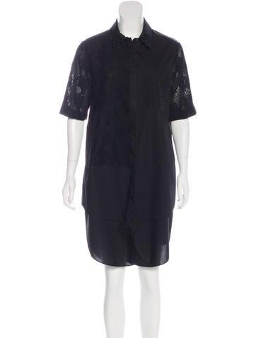 Derek Lam 10 Crosby Embroidered T Shirt Dress Clothing