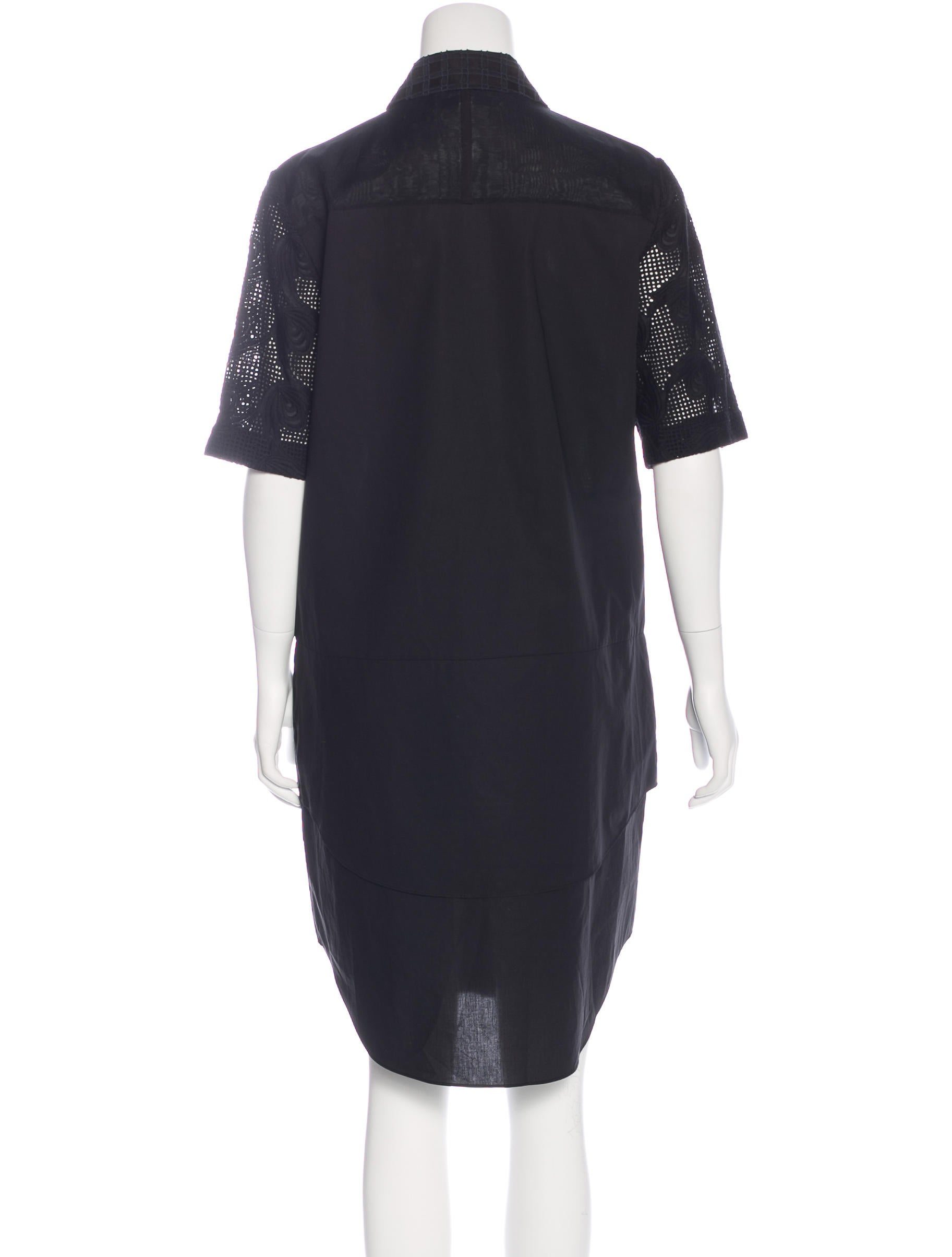 Derek lam 10 crosby embroidered t shirt dress clothing for Derek lam 10 crosby shirt dress