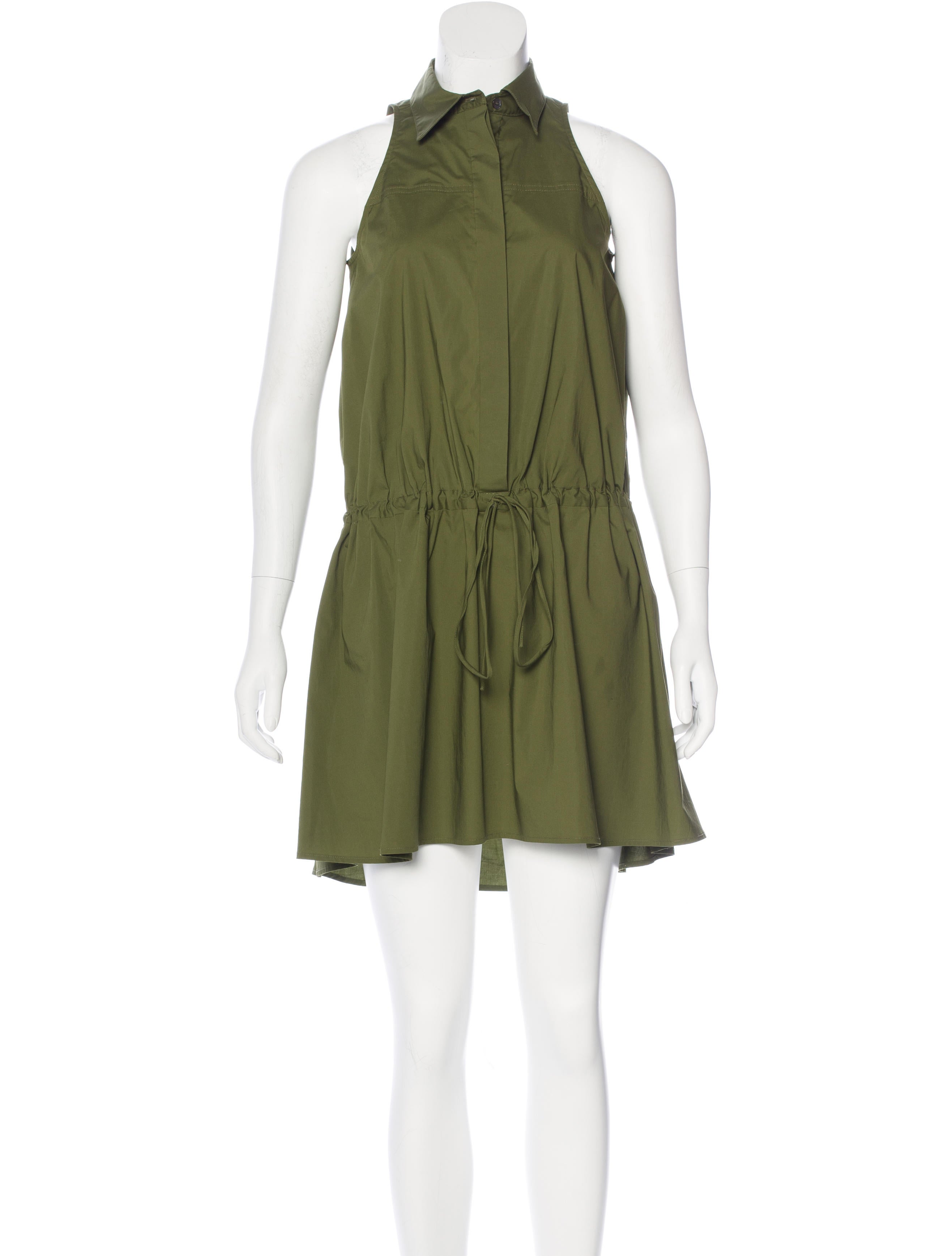 Derek Lam 10 Crosby Sleeveless Collar Dress Clothing