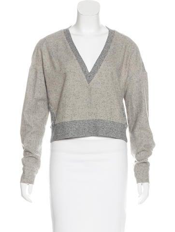 Derek Lam 10 Crosby Wool-Blend Long Sleeve Sweater None