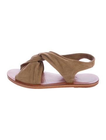 Derek Lam 10 Crosby Suede Slingback Sandals None