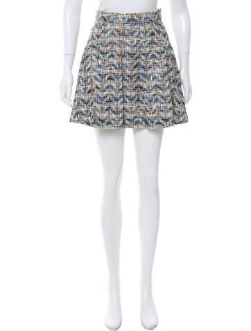 derek lam 10 crosby pleated tweed skirt clothing