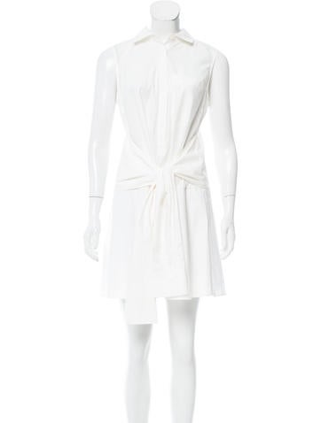 Derek Lam 10 Crosby Sleeveless Tie-Accented Dress w/ Tags None