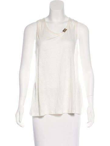 Derek Lam 10 Crosby Linen Sleeveless Top None