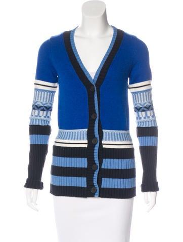 Derek Lam 10 Crosby Pattern Knit Wool-Blend Cardigan None