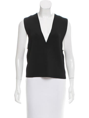 Derek Lam 10 Crosby Sleeveless V-Neck Top w/ Tags None