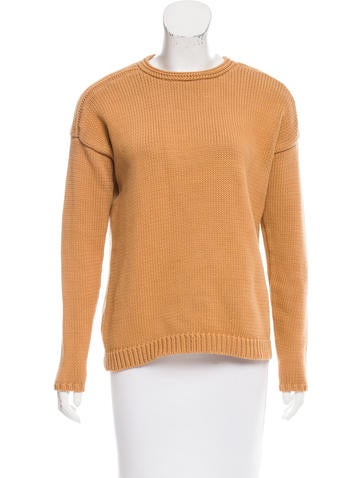 Derek Lam 10 Crosby Rib Knit Crew Neck Sweater None