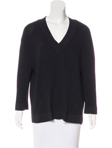 Derek Lam 10 Crosby Knit V-Neck Sweater None