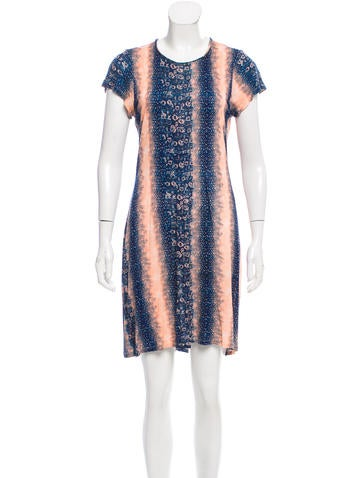 Derek lam 10 crosby printed short sleeve dress clothing for Derek lam 10 crosby shirt dress