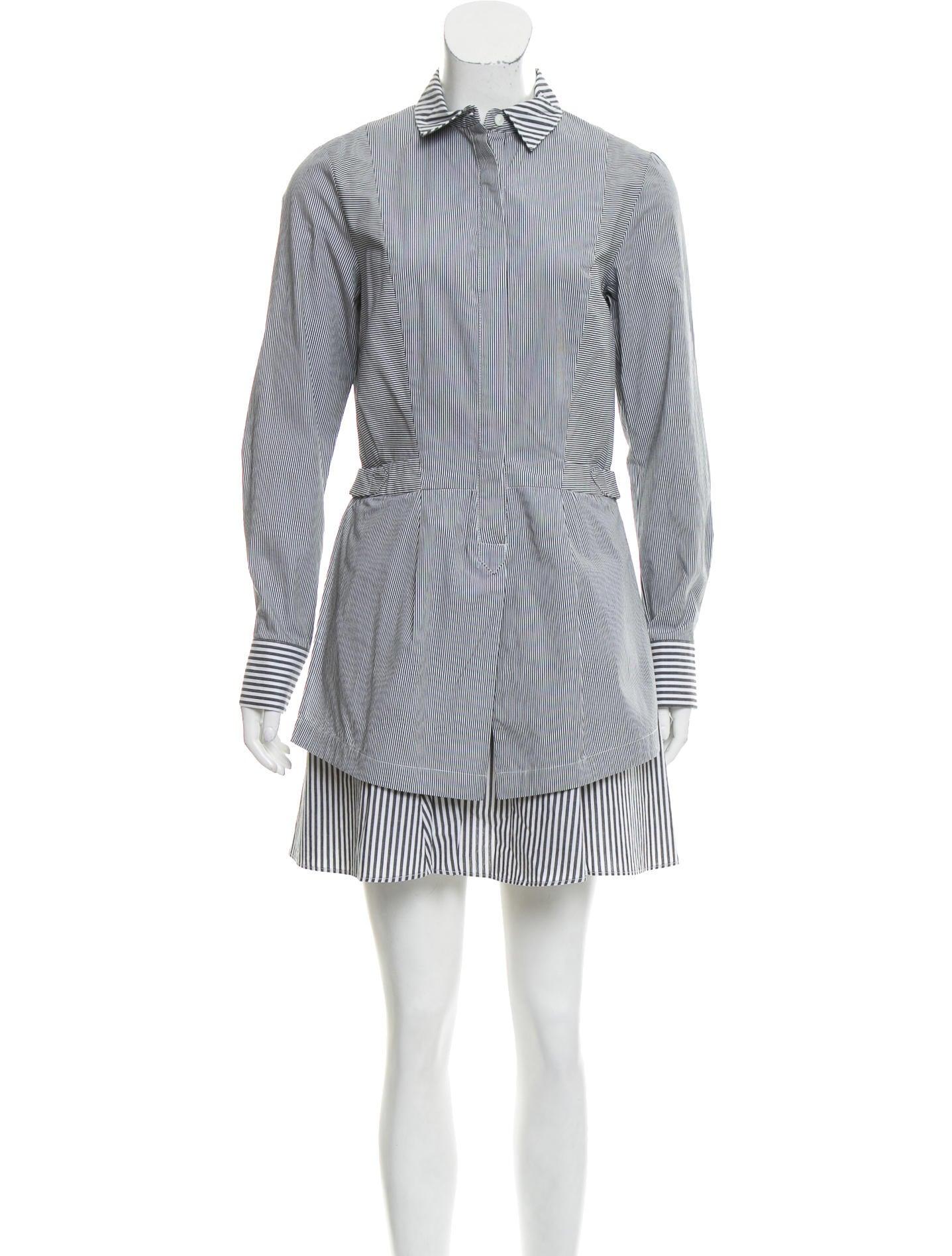 Derek Lam 10 Crosby Striped Button Up Dress Clothing