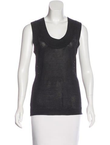 Derek Lam 10 Crosby Knit Sleeveless Top None