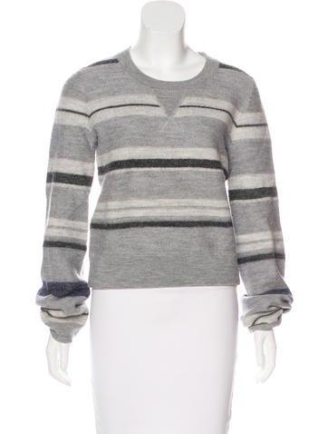 Derek Lam 10 Crosby Wool Striped Sweater None