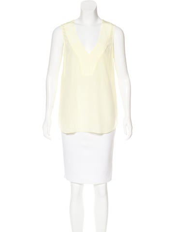 Derek Lam 10 Crosby Crosby Silk V-Neck Top None