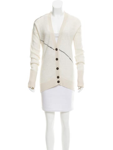 Derek Lam 10 Crosby Long Sleeve Knit Cardigan None