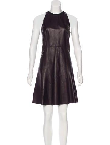 Derek Lam 10 Crosby Leather Mini Dress w/ Tags None