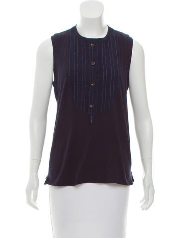 Derek Lam 10 Crosby Knit Button-Up Top w/ Tags None