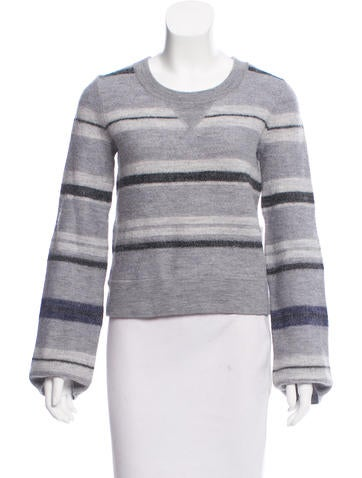 Derek Lam 10 Crosby Wool Striped Sweater w/ Tags None