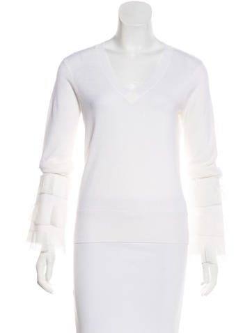 Derek Lam 10 Crosby Wool Ruffled Sweater w/ Tags None