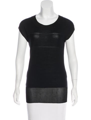 Derek Lam 10 Crosby Short Sleeve Knit Top None