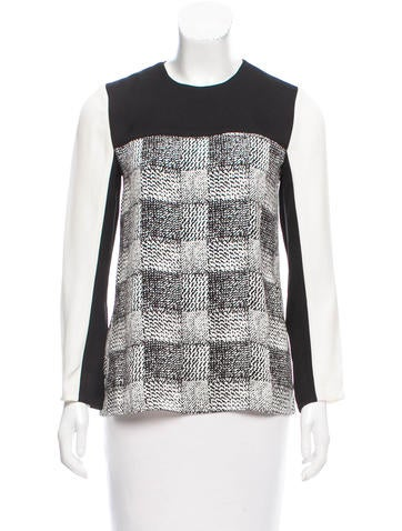 Derek Lam 10 Crosby Printed Silk Top None