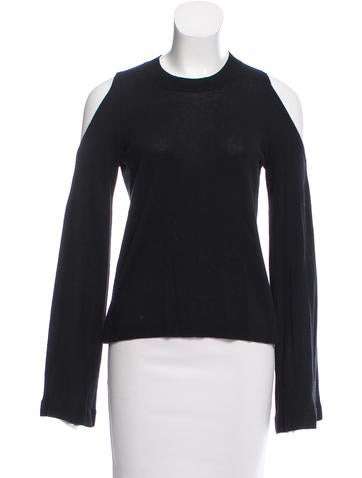 Derek Lam 10 Crosby Cutout-Accented Silk Sweater None
