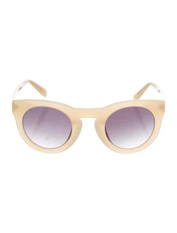 Derek Lam 10 Crosby Round Oversize Sunglasses None