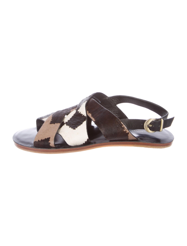 Derek Lam 10 Crosby Ponyhair Slingback Sandals buy cheap price H7dpi