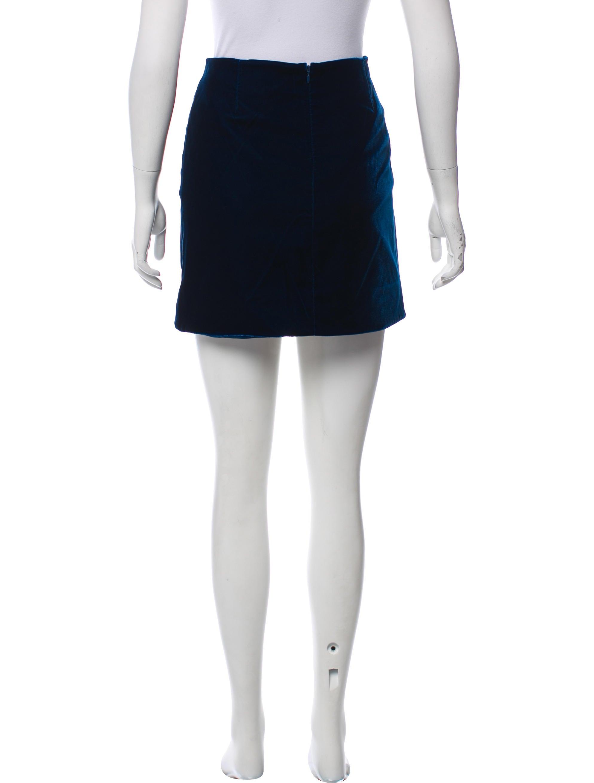 Derek Lam 10 Crosby Velvet Mini Skirt w/ Tags Amazon Sale Online yasxrtRQ2