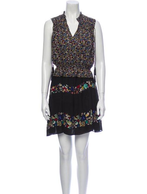 Derek Lam 10 Crosby Silk Floral Print Dress Set Bl