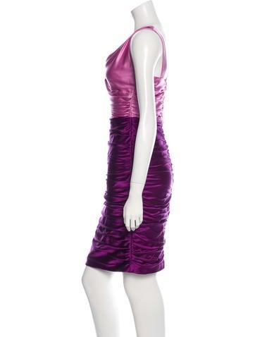 Silk Draped Dress
