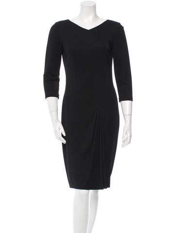 David Meister Three-Quarter Sleeve Knit Dress