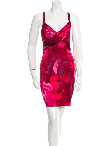 David Meister Printed Mini Dress