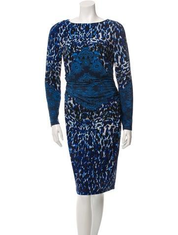 David Meister Printed Sheath Dress