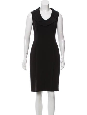 David Meister Sleeveless Knee-Length Dress None