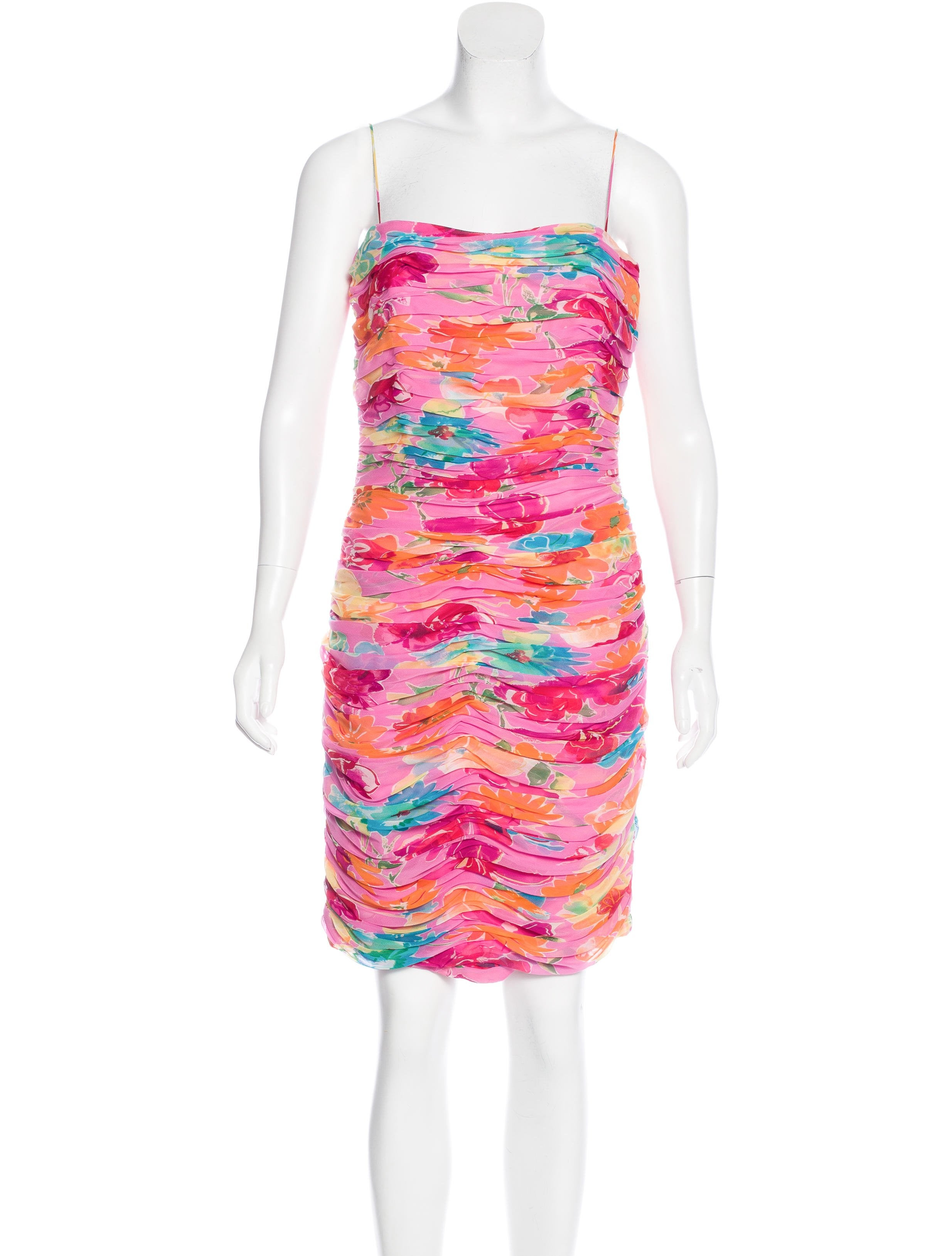 David Meister Silk Floral Print Dress - Clothing - WDM25170 | The ...