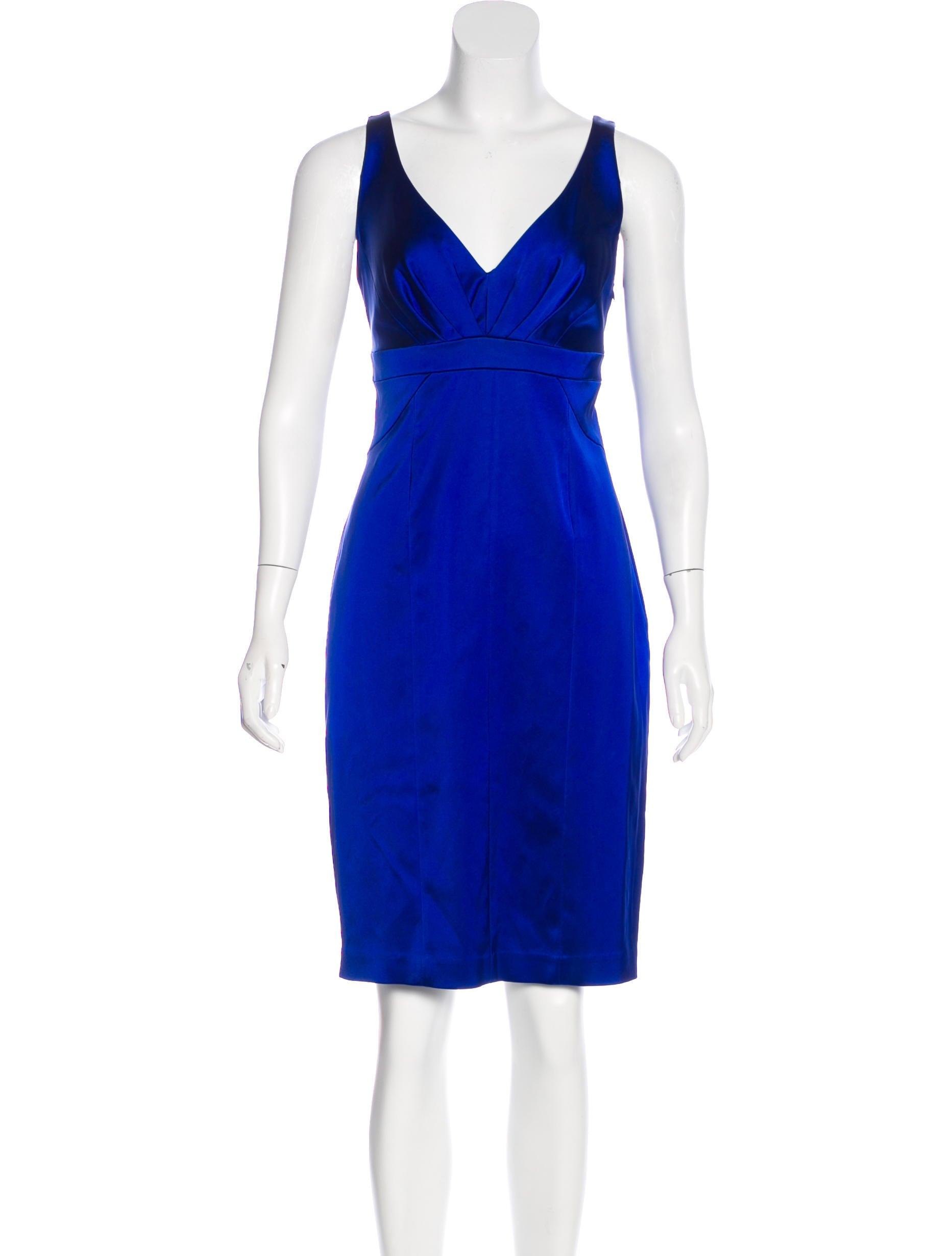 Satin Knee Length Dresses