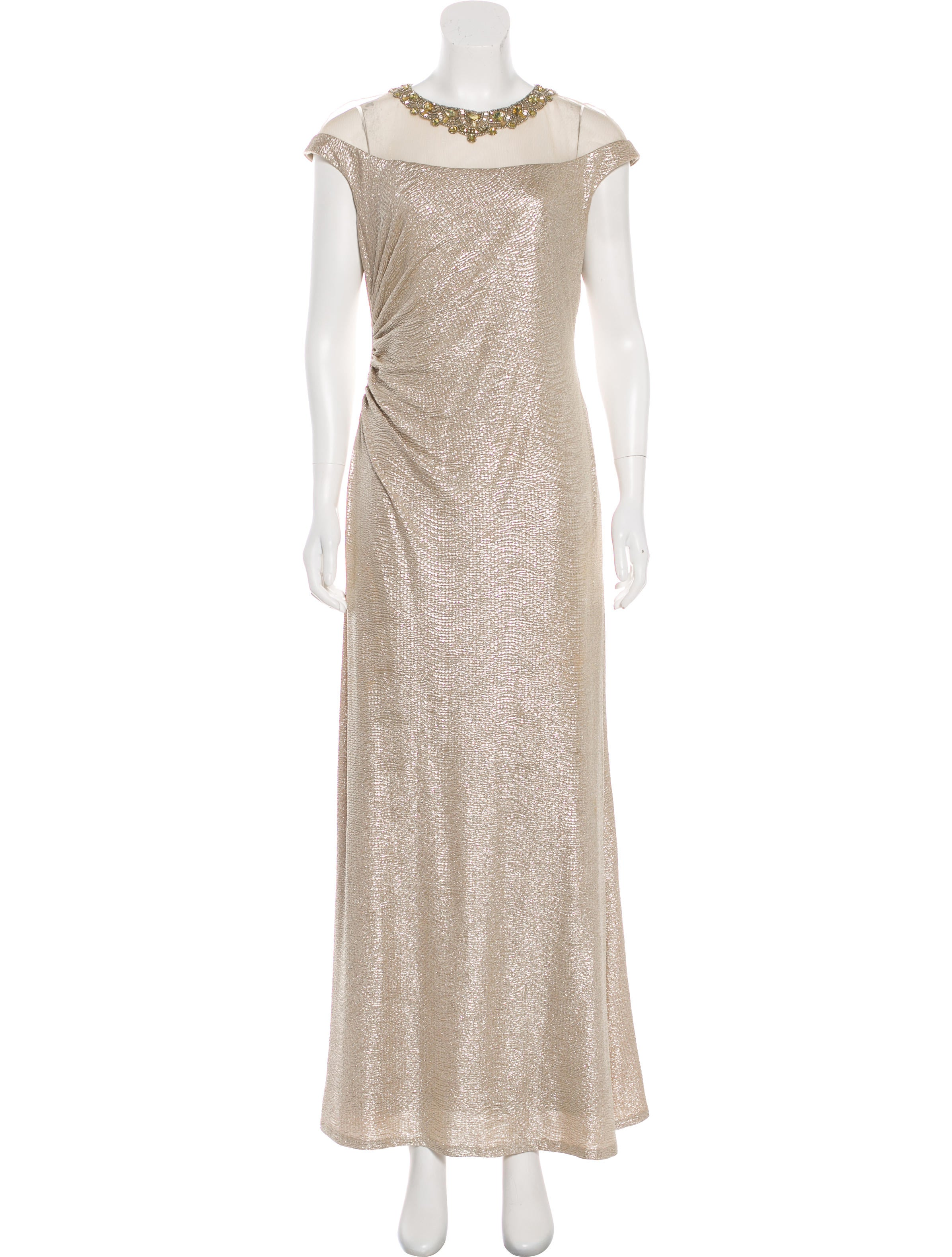 David Meister Beaded Metallic Gown - Clothing - WDM25594 | The RealReal