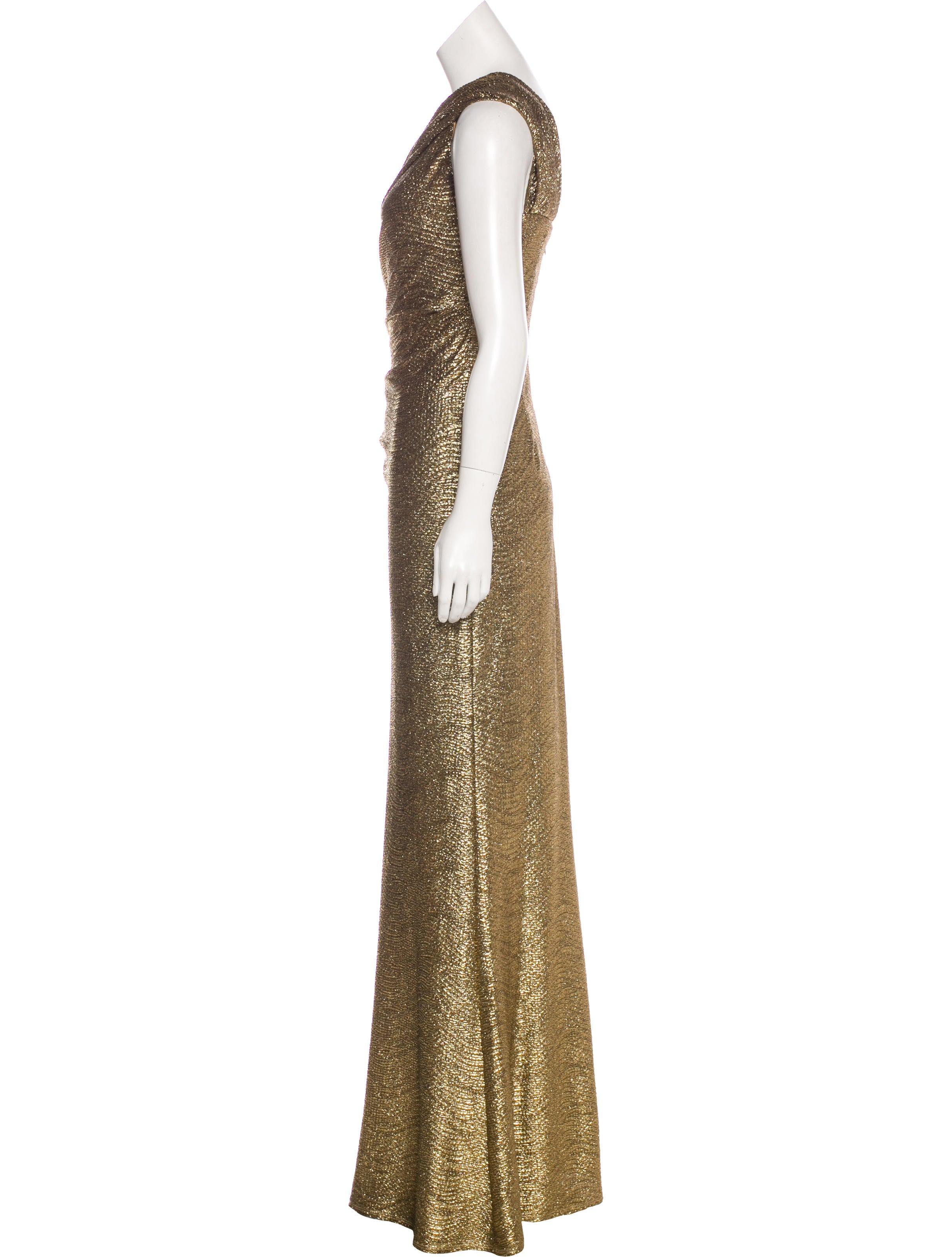 David Meister Metallic Maxi Dress - Clothing - WDM26330 | The RealReal