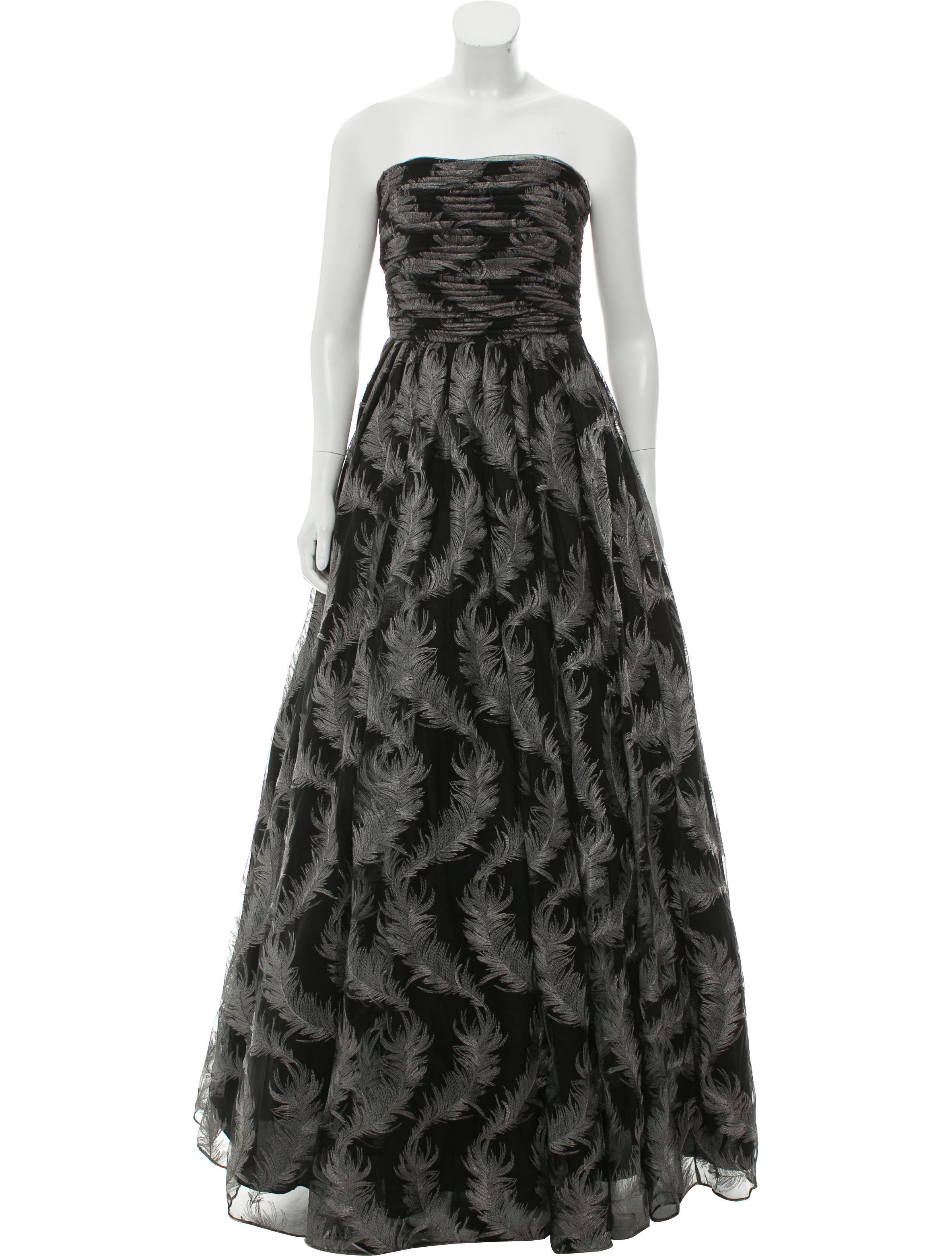 David Meister Strapless Evening Gown w/ Tags - Clothing - WDM26482 ...