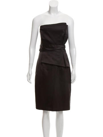 39e8393264 David Meister. Strapless Mini Dress