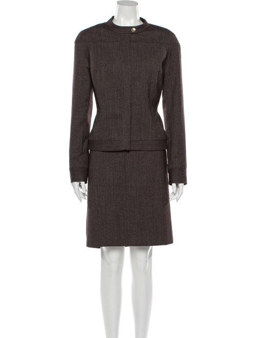 David Meister Skirt Suit Brown