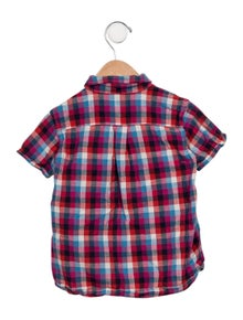 Denim Dungaree Boys' Plaid Button-Up Shirt